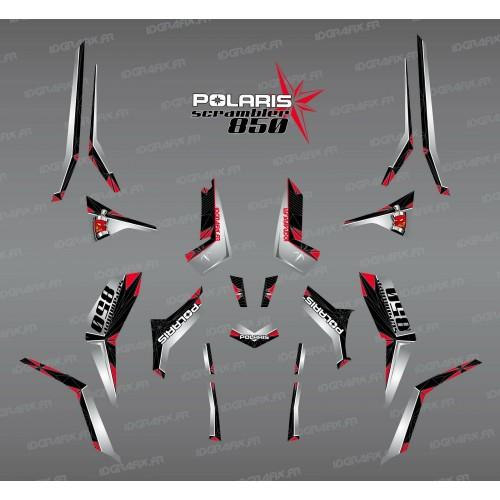 Kit de decoració SpiderStar-Negre/Gris (Llum) - IDgrafix - Polaris 850 Scrambler