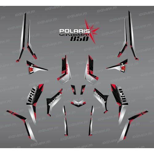 Kit decoration SpiderStar-Black/Grey (Light) - IDgrafix - Polaris 850 Scrambler - IDgrafix