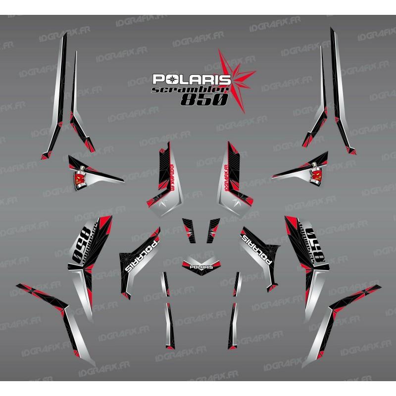 Kit de decoración de SpiderStar-Negro/Gris (Luz) - IDgrafix - Polaris Scrambler 850 -idgrafix