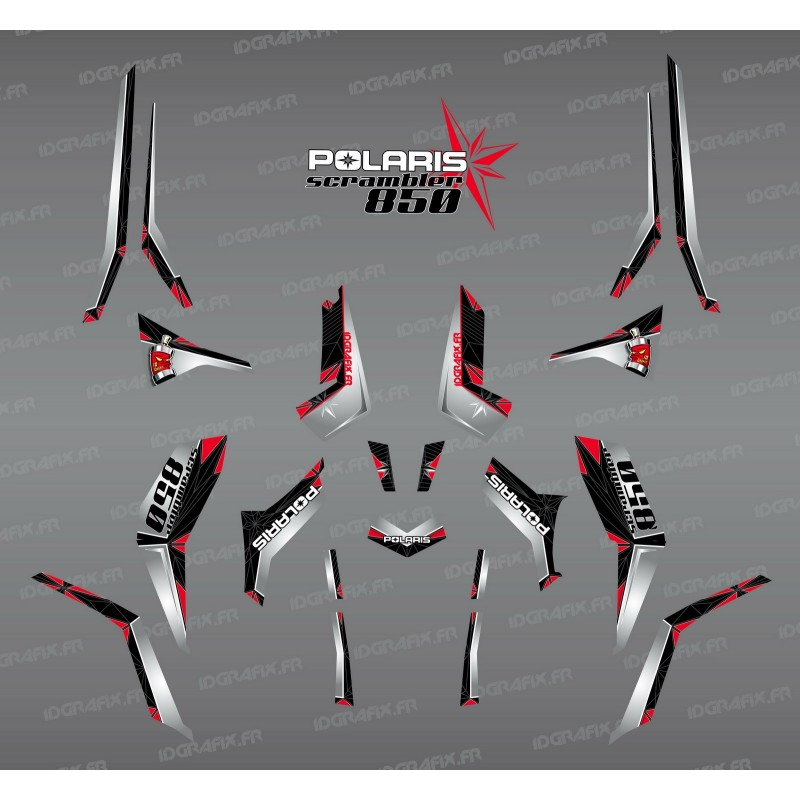Kit decoration SpiderStar-Black/Grey (Light) - IDgrafix - Polaris 850 Scrambler - IDgrafix