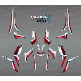 Kit de decoración de SpiderStar Rojo/Blanco (Luz) - IDgrafix - Polaris Scrambler 850