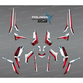 Kit decorazione SpiderStar Rosso/Bianco (Luce) - IDgrafix - Polaris Scrambler 850