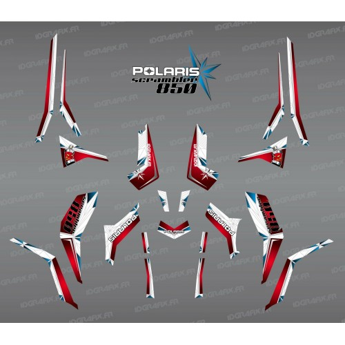 Kit decoration SpiderStar Red/White (Light) - IDgrafix - Polaris 850 Scrambler - IDgrafix