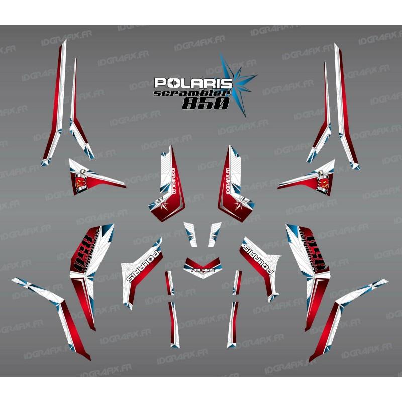 Kit décoration SpiderStar Rouge/Blanc (Light) - IDgrafix - Polaris 850 Scrambler-idgrafix