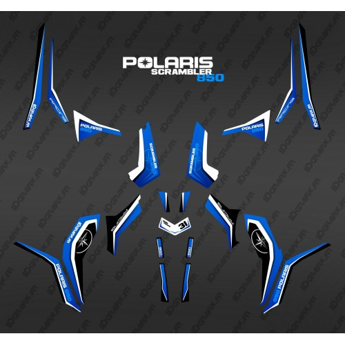 Kit décoration Pure Bleu (Light) - IDgrafix - Polaris 850/1000 Scrambler-idgrafix