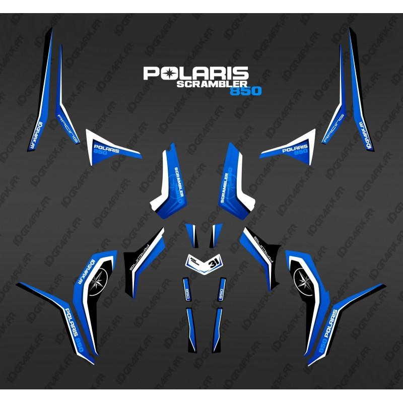 Kit de decoración Azul Puro (Luz) - IDgrafix - Polaris 850/1000 Scrambler -idgrafix