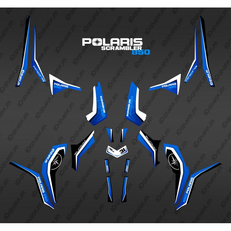 Kit decoration Pure Blue (Light) - IDgrafix - Polaris 850/1000 Scrambler - IDgrafix