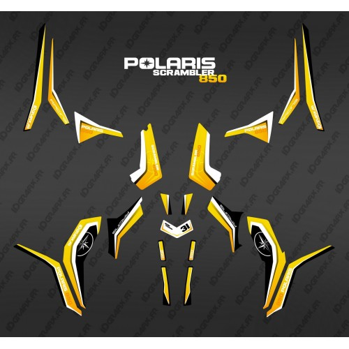 Kit décoration Pure Jaune (Light) - IDgrafix - Polaris 850 Scrambler-idgrafix