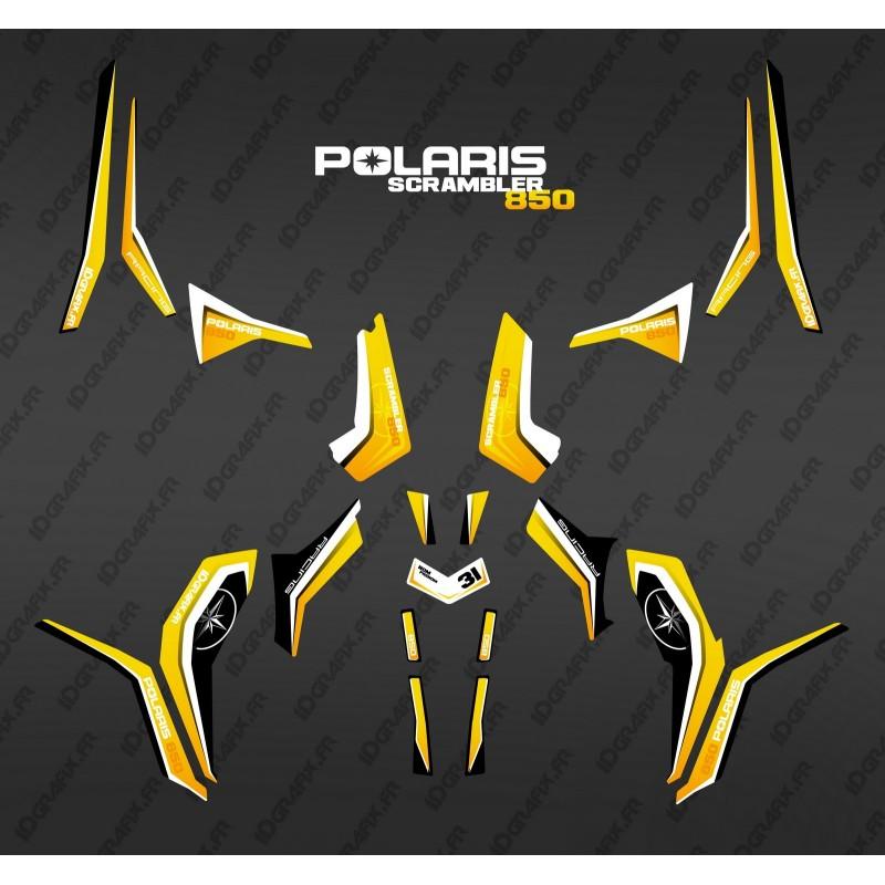 Kit de decoració Pura Groc (Llum) - IDgrafix - Polaris 850 Scrambler -idgrafix