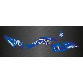 Kit de decoración de Karbonik de la serie (Azul) - IDgrafix - Yamaha 350 Raptor