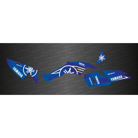 Kit de decoració Karbonik sèrie (Blau) - IDgrafix - Yamaha Raptor 350 -idgrafix