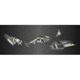 Kit de decoració Karbonik sèrie (color Gris) - IDgrafix - Yamaha Raptor 350