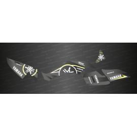 Kit de decoración de Karbonik de la serie (Gris) - IDgrafix - Yamaha 350 Raptor