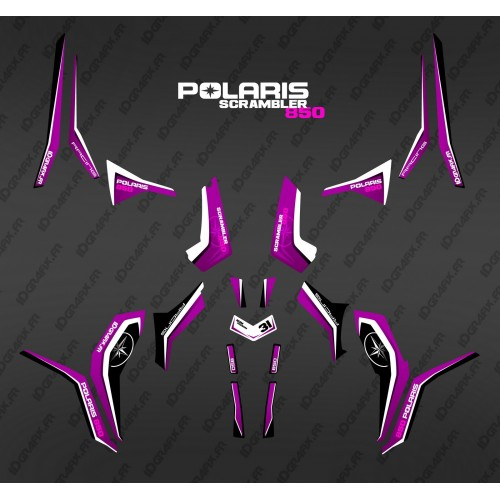 Kit décoration Pure Pink (Light) - IDgrafix - Polaris 1000 Scrambler-idgrafix