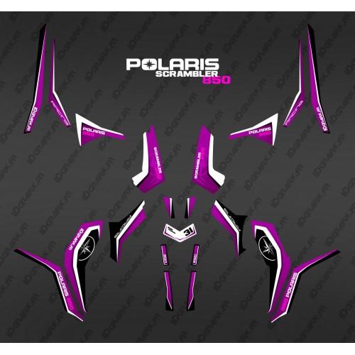 Kit de decoración de Pura Rosa (Luz) - IDgrafix - Polaris 1000 Scrambler