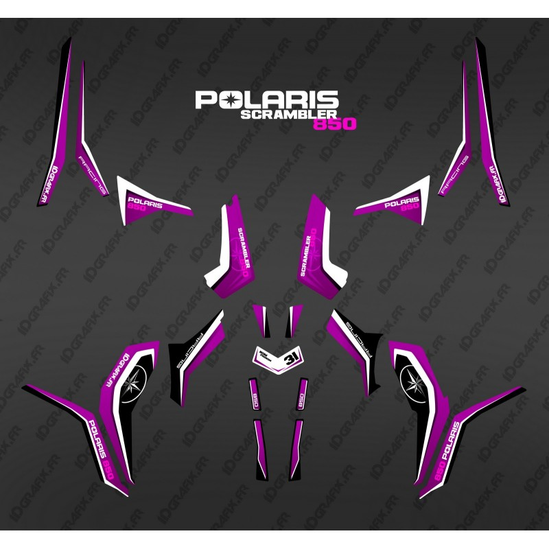 Kit de decoració Pura Rosa (la Llum) - IDgrafix - Polaris 1000 Scrambler -idgrafix