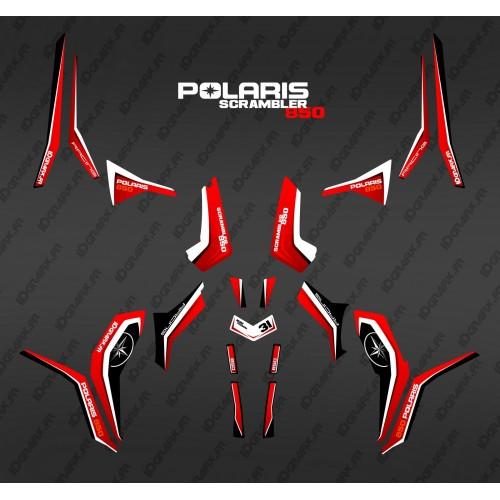Kit de decoración Rojo Puro (Luz) - IDgrafix - Polaris Scrambler 850