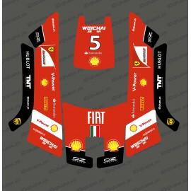 Etiqueta engomada de la F1 de Scuderia edition - Robot cortacésped Husqvarna AUTOMOWER 105 -idgrafix