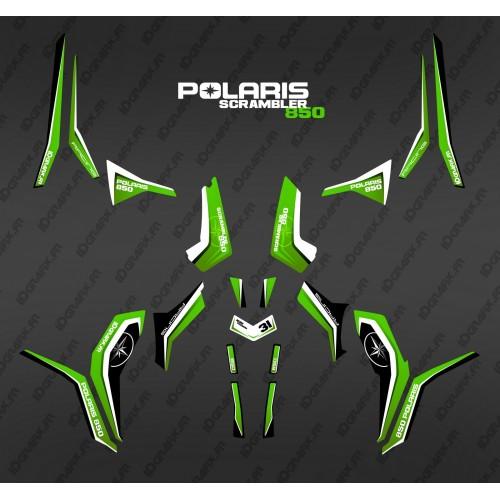 Kit de decoración de Puro Verde (Luz) - IDgrafix - Polaris Scrambler 850
