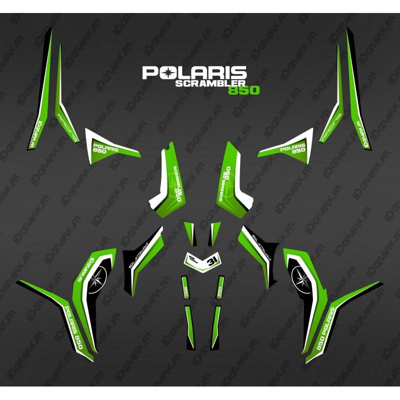 Kit de decoración de Puro Verde (Luz) - IDgrafix - Polaris Scrambler 850 -idgrafix