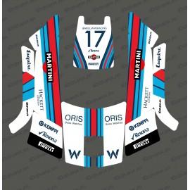 Etiqueta engomada de la F1 Williams edición - Robot cortacésped Husqvarna AUTOMOWER 105 -idgrafix