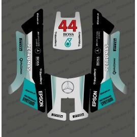 Pegatinas de F1 Mercedes edición - Robot cortacésped Husqvarna AUTOMOWER 105 -idgrafix