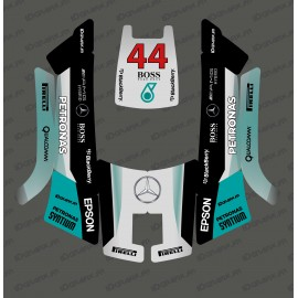 Stickers F1 Mercedes edition - Robot mower Husqvarna AUTOMOWER 105-idgrafix
