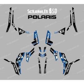 Kit de decoració Carrer Blau (Llum) - IDgrafix - Polaris 850 Scrambler