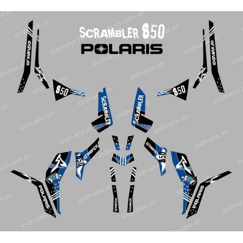 Kit de decoración de la Calle Azul (Luz) - IDgrafix - Polaris Scrambler 850