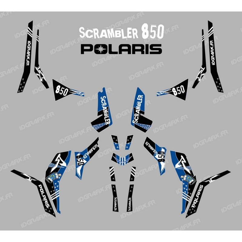 Kit de decoració Carrer Blau (Llum) - IDgrafix - Polaris 850 Scrambler -idgrafix