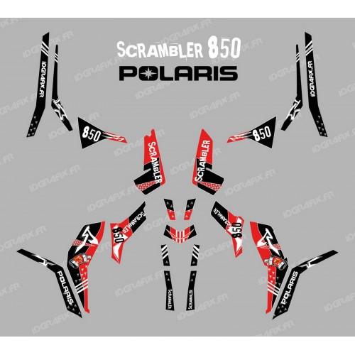 Kit de decoració Carrer (Llum Vermella) - IDgrafix - Polaris 850 Scrambler