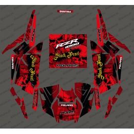 Kit de decoración de la Perla Negra Edición (Rojo)- IDgrafix - Polaris RZR 1000 Turbo / Turbo S -idgrafix
