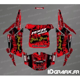 Kit dekor Black Pearl Edition (Rot)- IDgrafix - Polaris RZR 1000 Turbo