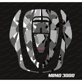 Sticker Camo Digital Edition (Gris) - Robot de tonte Honda Miimo 3000