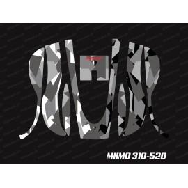 Sticker Camo Digital Edition (Grey) - Robot mower Honda Miimo 310-520-idgrafix