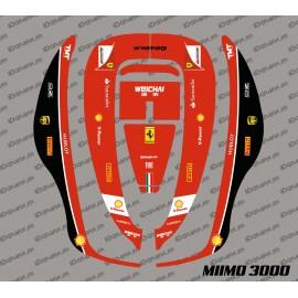 Etiqueta engomada de la F1 de Scuderia Edition - Robot cortacésped Honda Miimo 3000 -idgrafix