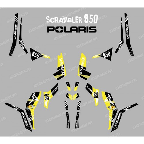 Kit de decoració Carrer Groc (Llum) - IDgrafix - Polaris 850 Scrambler