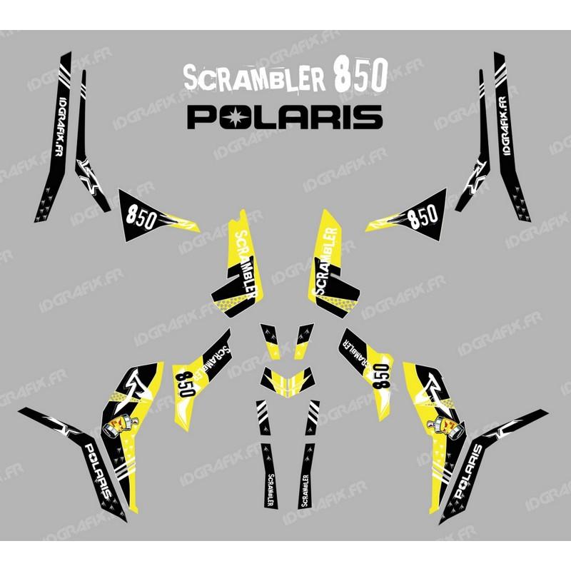 Kit de decoració Carrer Groc (Llum) - IDgrafix - Polaris 850 Scrambler -idgrafix