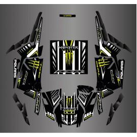 Kit de decoración 100% Personalizado Monstruo de Carbono - IDgrafix - Polaris RZR 1000 Turbo / Turbo S -idgrafix