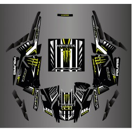 Kit decoration 100% Custom Monster Carbon - IDgrafix - Polaris RZR 1000 Turbo / Turbo S - IDgrafix