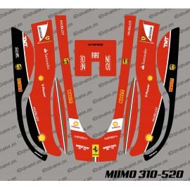 Sticker F1 Scuderia Edition - Robot mower Honda Miimo 310-520-idgrafix