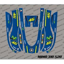 Etiqueta engomada de Rossi GP Edition - Robot cortacésped Honda Miimo 310-520 -idgrafix