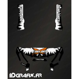 Kit de decoración de Yosemite Serie (Blanco) - IDgrafix - Can Am Traxter -idgrafix