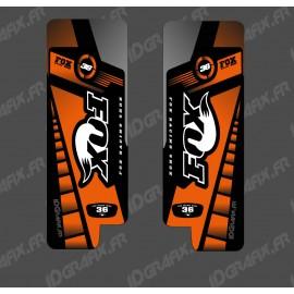 Stickers Protection Fork Fox Edition (Orange) - Specialized Turbo Levo - IDgrafix