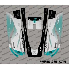 Etiqueta engomada de la F1 de Scuderia Edition - Robot cortacésped Honda Miimo 310-520 -idgrafix