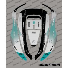 Sticker F1 Mercedes Edition - Robot de tonte Honda Miimo 3000