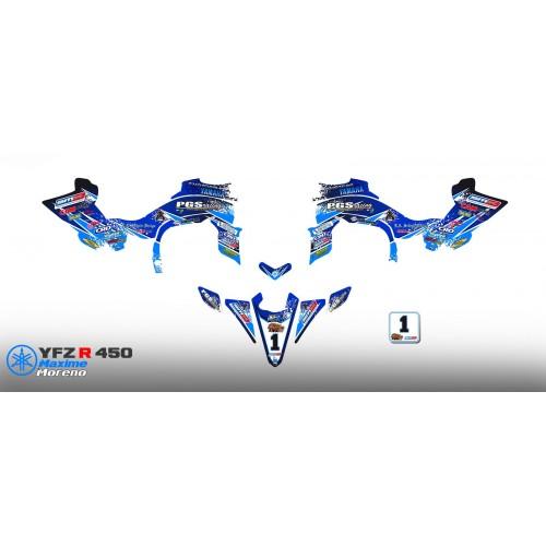 Kit déco 100 % Perso RACE pour YAMAHA 450 YFZ R -idgrafix