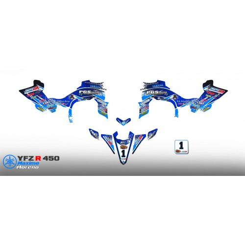 Kit-deco-100 % Eigene RASSE für YAMAHA YFZ 450 R -idgrafix