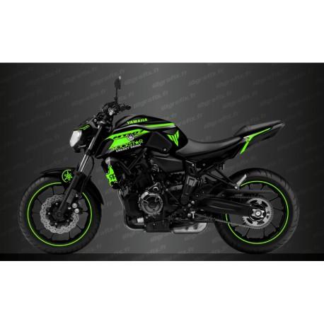 Kit deco Rockstar Edition (Green) - IDgrafix - Yamaha MT-07 (after 2018) - IDgrafix