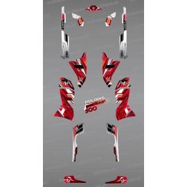 Kit decorazione Rosso Picchi di Serie - IDgrafix - Polaris 500 Sportsman